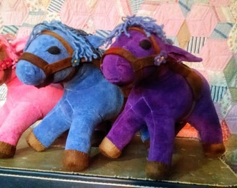 """Horse or Donkey For up to a 16"""" Waldorf Doll, Custom Listing, Organic Velour, You pick Colors"""