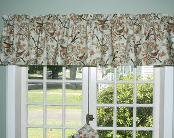 "Nested in Branched Straight Valance, Lined with Quality Drapery Lining Measures 15""x 72"""