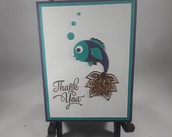 Handmade Fish Thank You Card