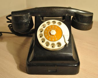Vintage telephone. Carbolite. USSR. Rotary Telephone