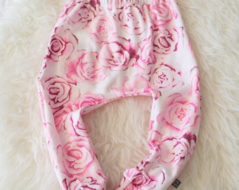 pink rose floral harem pants by little lapsi.