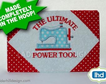 ITH Mug Rug Embroidery Design -- The Ultimate Power Tool Machine Embroidery Design -- Sewing Machine ITH Mug Rug - Mug Rug Embroidery Design