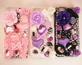 Cell Phone Cases Bling for iphone 7 iphone 7 plus for iphone 6 6s plus for Sumsung Galaxy S7 S6 with Flora