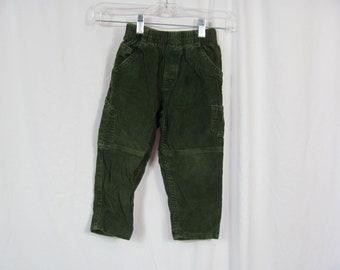 Vintage 90s Boys Green Corduroy Osh Kosh Pants