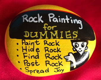 Rock Painting For Dummies Original Hand Painted Rock Stone Art