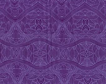 Untitled Purple Australian Aboriginal Fabric