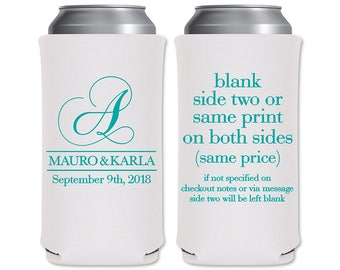 8.3 oz Slim Beer Can Coolers Beverage Insulator Personalized Wedding Favors | Classic (4A) | Energy Drinks/Michelob Ultra | READ DESCRIPTION