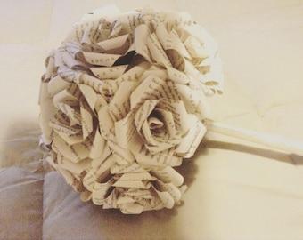 Book Page Wedding Bouquet