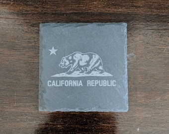 California Republic Slate Coasters