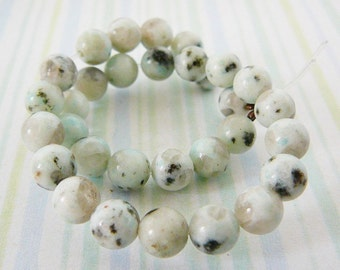 Grey Agate Beads, 6mm Rounds, Gemstones