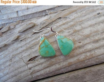 ON SALE Turquoise earrings handmade in sterling silver 925
