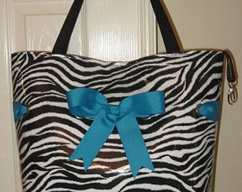 Large Zebra with Turquoise