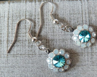 Swarovski Earrings / Flower Earrings / Snowflake Earrings / Dangle Earrings / Drop Earrings / Floral Earrings