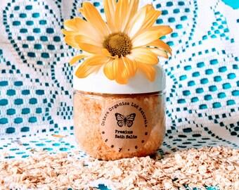 Honey Almond Bath Salts, Honey Almond, Honey Almond Bath Soak, Natural Bath Salts, Natural Bath Soak, Oatmeal Spa Salts, Oatmeal Spa Soak