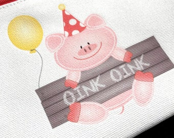 Personalized first birthday little piggy party favors, pigout party gift ideas, miss piggy, oink oink, party pigs, pink piggy