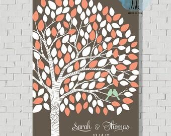 Custom Guest Book Print, Wedding Guest Book Alternative, Guest Book Tree, Wedding Tree, Bridal Shower Gift, Wedding Gift, Wedding Poster -M1