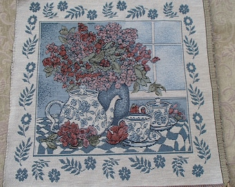 Teapot Floral Tapestry Panel
