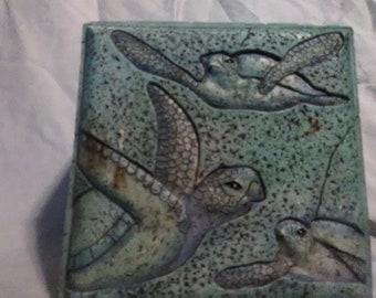 Sea Turtle Jewelry / Trinket box