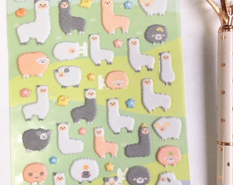 Cute Lama Stickers for Planners Decorations Japan