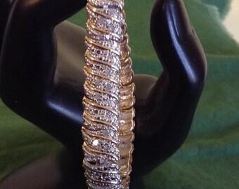 Gold over sterling bracelet