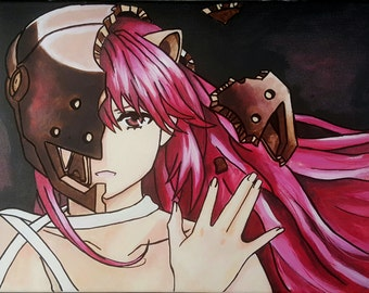 Lucy (Elfen Lied) Hand Painted