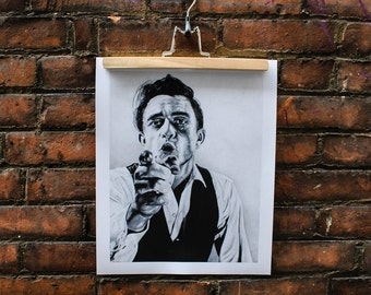 The Man in Black - Johnny Cash Portrait