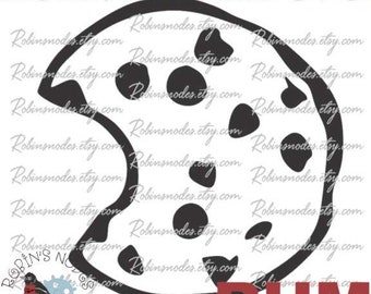 Chocolate Chip Cookie SVG file~ vector for laser and Cricut  ~  Digital Download ~ AI dxf pdf eps ~ cookie jar decal bite baked good bakery