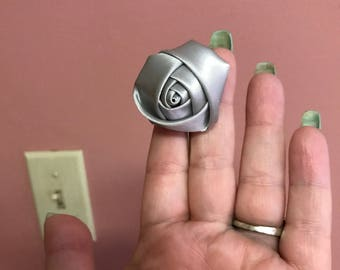 Small Silver Boutonniere