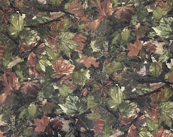 Woodland Leaves - 100% Cotton