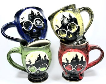 House Colored Wizarding Mugs