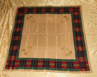 Genuine vintage Gucci scarf 100% silk Accessory Collection