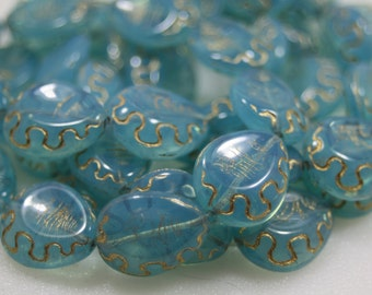Czech Glass Beads, Tear Drop Shape, 10 Beads