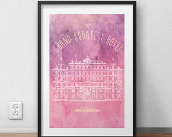 The Grand Budapest Hotel poster Minimalist Wes Anderson