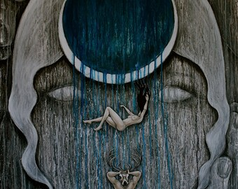 Love Descending by Carrie Martinez // Surrealism, Mysticism, Goddess, Tarot and Visionary Art