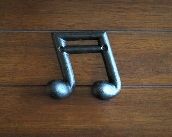 Music Note Wall Hook / Black or Pick Color / Gift for Music Lover / Towel Coat Robe Keys Jewelry Hat Hook / Music Theme Wall Decor