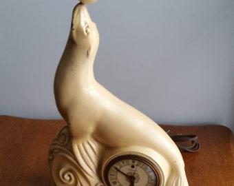 Carstairs White Seal Whiskey Advertising Clock