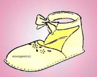 Ankle Strap Baby Shoes Booties Sewing Pattern Vintage 1940s PDF