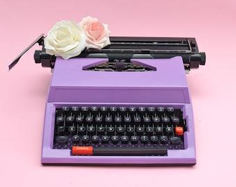Purple typewriter ULTRA VIOLET home decor pantone color of the year birthday gift girl polka dots purple wedding decoration