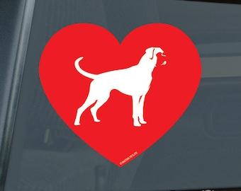 Love Boxer Heart Die Cut Vinyl Sticker - 581