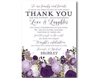 Vintage Wedding Thank You Card - Fall Wedding - Vintage Floral - Floral Wedding - Vintage Wedding - Wedding Thanks - Thank You Card #CL147