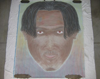 Self Portrait (A Midsummers Tan):  Huge 4ft x 6ft Original.  Charcoal & Conte Crayons.  Year 1998