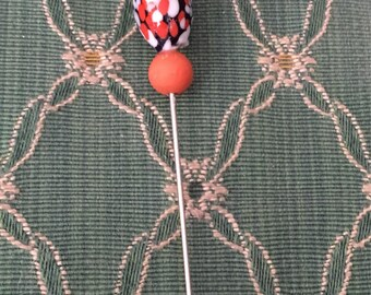 One of a kind art deco beaded hat pin