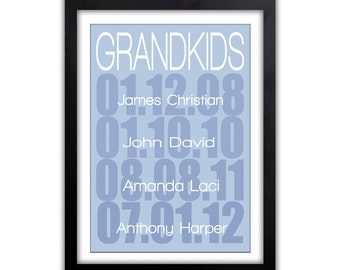 Gift For Grandparents - Grandkids Gift - Christmas Gift For Grandparents - Grandparents Day Gift - What A Difference A Day Makes