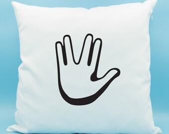 Vulcan Hand Salute Emoji Pillow - Star Trek Vulcan Emoji Pillow - Spock Vulcan Sign Emoji Cushion - Spock Pillow - Star Trek Pillow