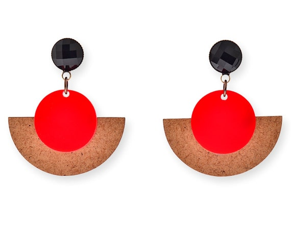 earrings from woman f natural marni sphere the earring in horn us n clip with on metal