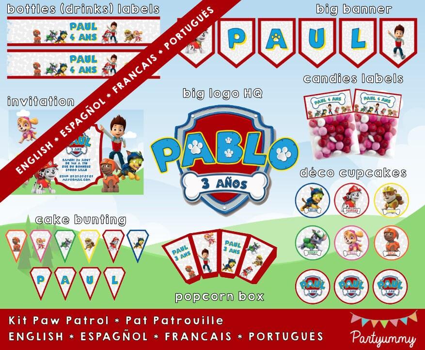 Populaire Kit anniversaire Pat Patrouille personnalisé avec prénom logo LC64