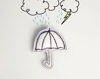 Umbrella brooch I'm singing in the rain