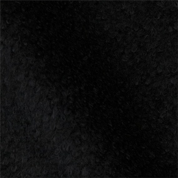 "Shaggy Felt: 1 Yard - Black by ""Kunin"""