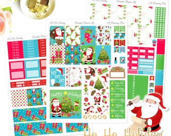 Ho Ho Holidays - Printable Planner Stickers - Instant Download