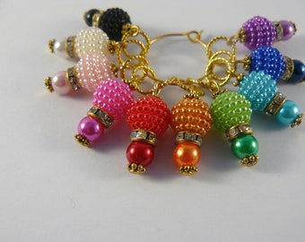 Bay Berry Markers, Stitch Markers, Crochet Markers, Knitting Accessories, Beaded Markers,